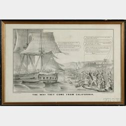 Nathaniel Currier, publisher (American, 1813-1888)      THE WAY THEY COME FROM CALIFORNIA.