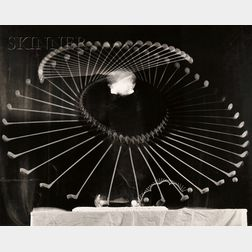 Harold Eugene Edgerton (American, 1903-1990)      Swinging the Driver.