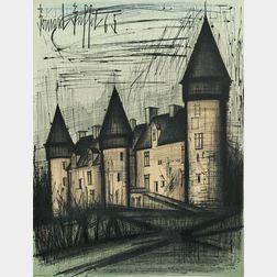 Bernard Buffet (French, 1928-1999)      La Château de Culan