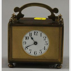 French Brass Table Timepiece