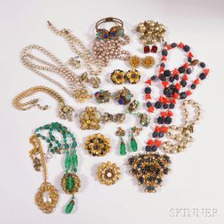 Group of Miriam Haskell Jewelry