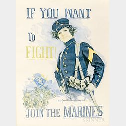 Framed Reproduction WWI If You Want To Fight   Poster