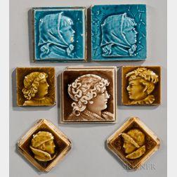 Seven Trent Tile Company Art Pottery Tiles