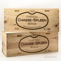Chateau Chasse Spleen 2010, 2 double magnum bottles (ind. owc)