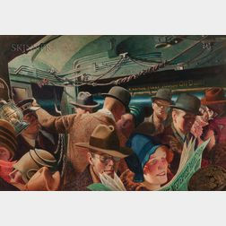 John Rutherford Boyd (American, 1884-1951)      In the Subway