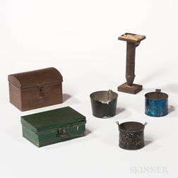 Six Tin and Copper Items