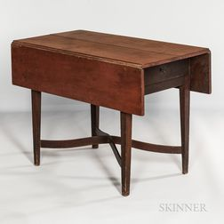 Red-painted Pembroke Table