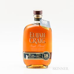 Elijah Craig Single Barrel 18 Years Old, 1 750ml bottle Spirits cannot be shipped. Please see http://bit.ly/sk-spirits for more info.