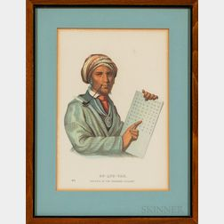 Six Framed Colored Lithographs of Native Americans