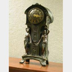Art Nouveau Style Mantel Clock.