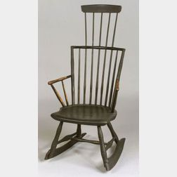 Painted Comb-back Windsor Arm Rocking Chair