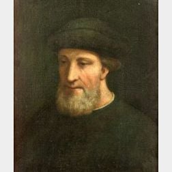 Florentine School, 16th Century Style  Portrait of a Bearded Man
