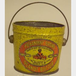 Pickaninny Brand Lithographed Tin Peanut Butter Tub