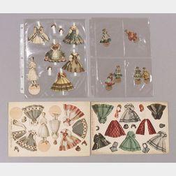 Lot of Poupee Modele Paper Doll Sheets