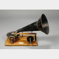Hand-Cranked Berliner Gramophone