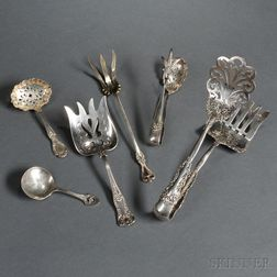 Six Pieces of American Sterling Silver Flatware