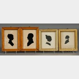 Four Hollow-cut Silhouette Portraits