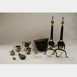Group of Assorted Metal Fireplace and Domestic Items