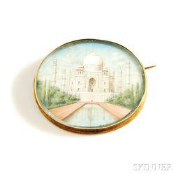Taj Mahal Brooch