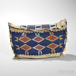 Central Plains Beaded Buffalo Hide Possible Bag