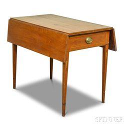 Federal Inlaid Birch Pembroke Table