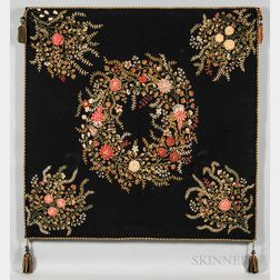 Large Floral Embroidered Panel