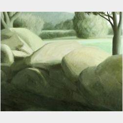 Robert Kipniss (American, b. 1931)  Landscape in Green