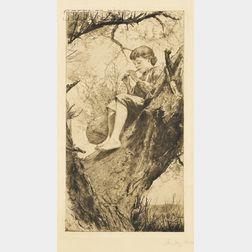 Ellen Day Hale (American, 1855-1940)      Willow Whistle
