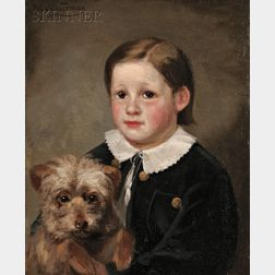 Marcus Waterman (American, 1834-1914)      Portrait of a Boy and His Dog
