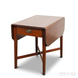 Federal Birch One-drawer Pembroke Table