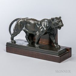 After Antoine-Louis Barye (French, 1795-1875)       Bronze Bookend
