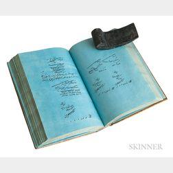 Persian Mathematics, Manuscript on Blue Paper.