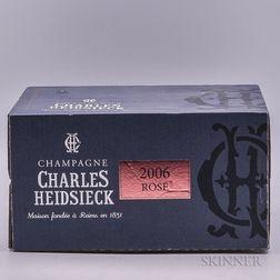 Heidsieck Brut Rose 2006, 6 bottles (oc)