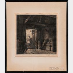 Leonard Russell Squirrell (English, 1893-1979)    Barn Workshop