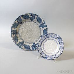 Dedham Pottery Turkey Saucer and Grape Plate