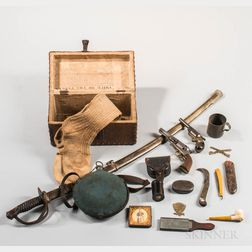 Group of Civil War Items Owned by William F. Clarke, Company A, 1st Connecticut Volunteer Cavalry