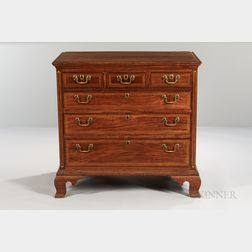 Walnut Inlaid Chest of Drawers