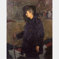 Ross Moffett (American, 1888-1971)    The Old Fisherman