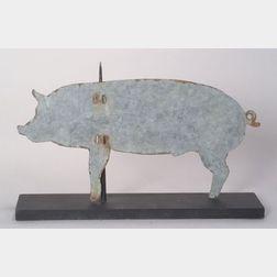 Sheet Metal Sillhouette Pig Weather Vane