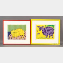 Lot of Two Prints by David Omar White (American, 20th Century)