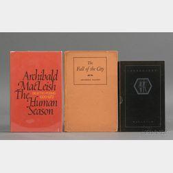 MacLeish, Archibald (1892-1982)