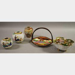 Five Japanese Decorated Ceramic Items