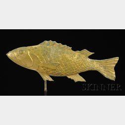 Gilt Molded Copper Fish Weather Vane