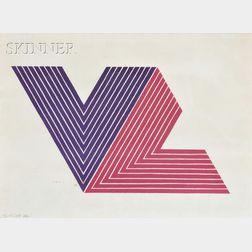 Frank Stella (American, b. 1936)      Ifafa I