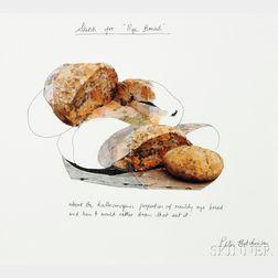 Peter Hutchinson (British, b. 1930)      Sketch for Rye Bread