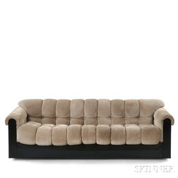 Modernist Perforated Suede Sofa