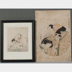 Kikugawa Utamaro (1753-1806), Two Woodblock Prints