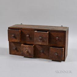 Small Walnut Eight-drawer Spice Box