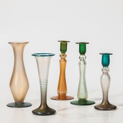 Five Imperial Art Glass Items