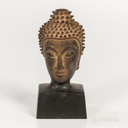 Bronze Head of Buddha